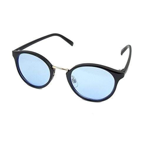 人気 ボストン サングラス ブルー レンズ UVカット 紫外...