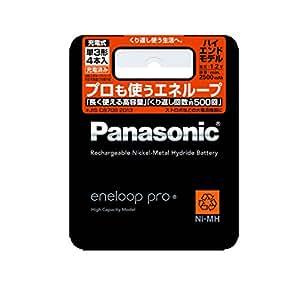 パナソニック エネループ 単3形充電池 4本パック 大容量モデル eneloop pro BK-3HCD/4