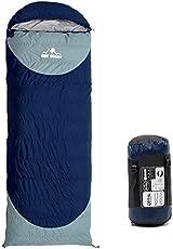 Hewflitダウン寝袋 羽毛寝袋 シュラフ 封筒型 キャンプ アウトドア 冬用 連結可能 ダウン1.5kg 最低使用温度-25度 快適温度0度~-10度 2.3kg 220 * 80cm 洗える 防災 コンパクト 収納収納袋付き