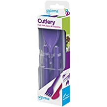 Sistema to Go Cutlery Set - Reusable - Purple by Sistema