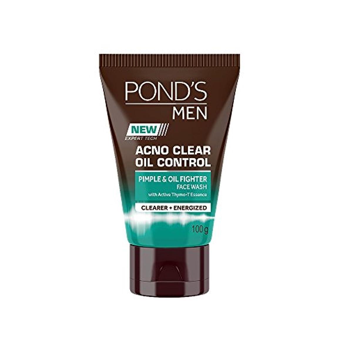 郊外ホールドコードレスPond's Men Acno Clear Oil Control Face Wash, 100g
