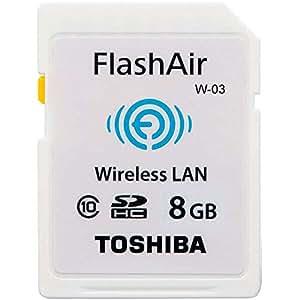 TOSHIBA/東芝 無線LAN搭載SDHCカード(FlashAir) 【8GB】Class10 SD-R008GR7AL01 並行輸入品