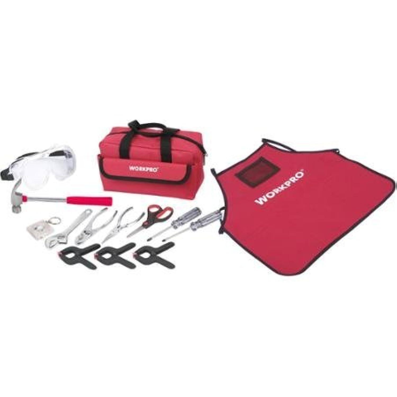 WorkPro Kids 14 piece Starter Tool Set Handyman Kit by Great Star Industrial Co. [並行輸入品]
