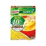 塩分40%カット クノール 減塩 コーンクリーム ポタージュスープ 3袋入り(1箱)×2箱セット
