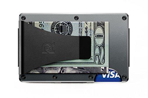 [ザ リッジ] the RIDGE スマートフォンよりも薄い財布 マネークリップ アルミニウム ガンメタル