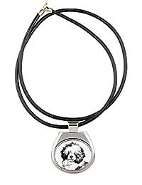 ポルトガル水犬、犬のネックレスのコレクションイメージで、昇華