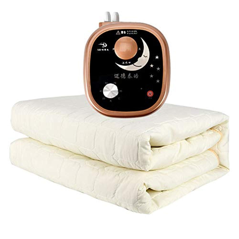 DWLINA 水毛布、ない放射線一定温度インテリジェント高品質配管毛布安全電気ピンセット,White+A,1.5*1.8M