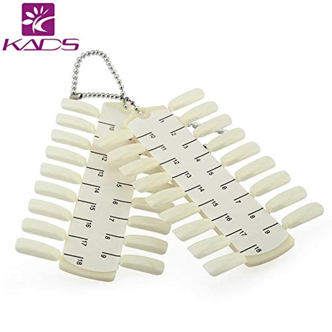鬼ごっこスキーム縫い目KADS 36個偽ネイル ネイルアートディスプレイプレート ネイルディスプレイボード DIYポータブル