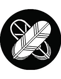 家紋シール 陰陽違い鷹の羽紋 布タイプ 直径40mm 6枚セット NS4-0218