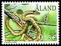 ヘビの切手 オーランド発行1種