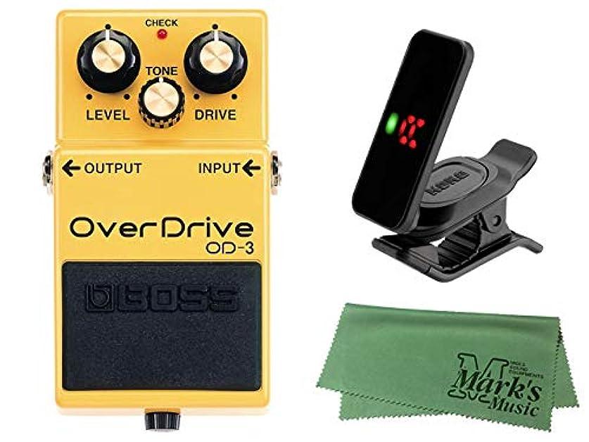 オーラル自由ダンスBOSS ボス - OverDrive OD-3 + KORG Pitchclip 2 PC-2 + マークスオリジナルクロス セット