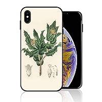iPhone XS Max 携帯カバー 手描き 緑 植物 カバー TPU 薄型ケース 防塵 保護カバー 携帯ケース アイフォンケース 対応 ソフト 衝撃吸収 アイフォン スマートフォンケース 耐久