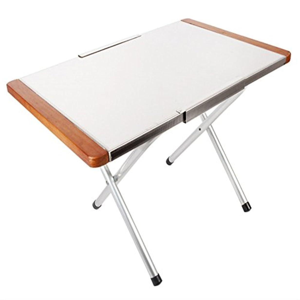 環境保護主義者杖フルーティーキャンプ 折り畳み式テーブル ポータブル スポーツ ステンレススチール付き ピクニック/バーベキューテーブル/勉強に