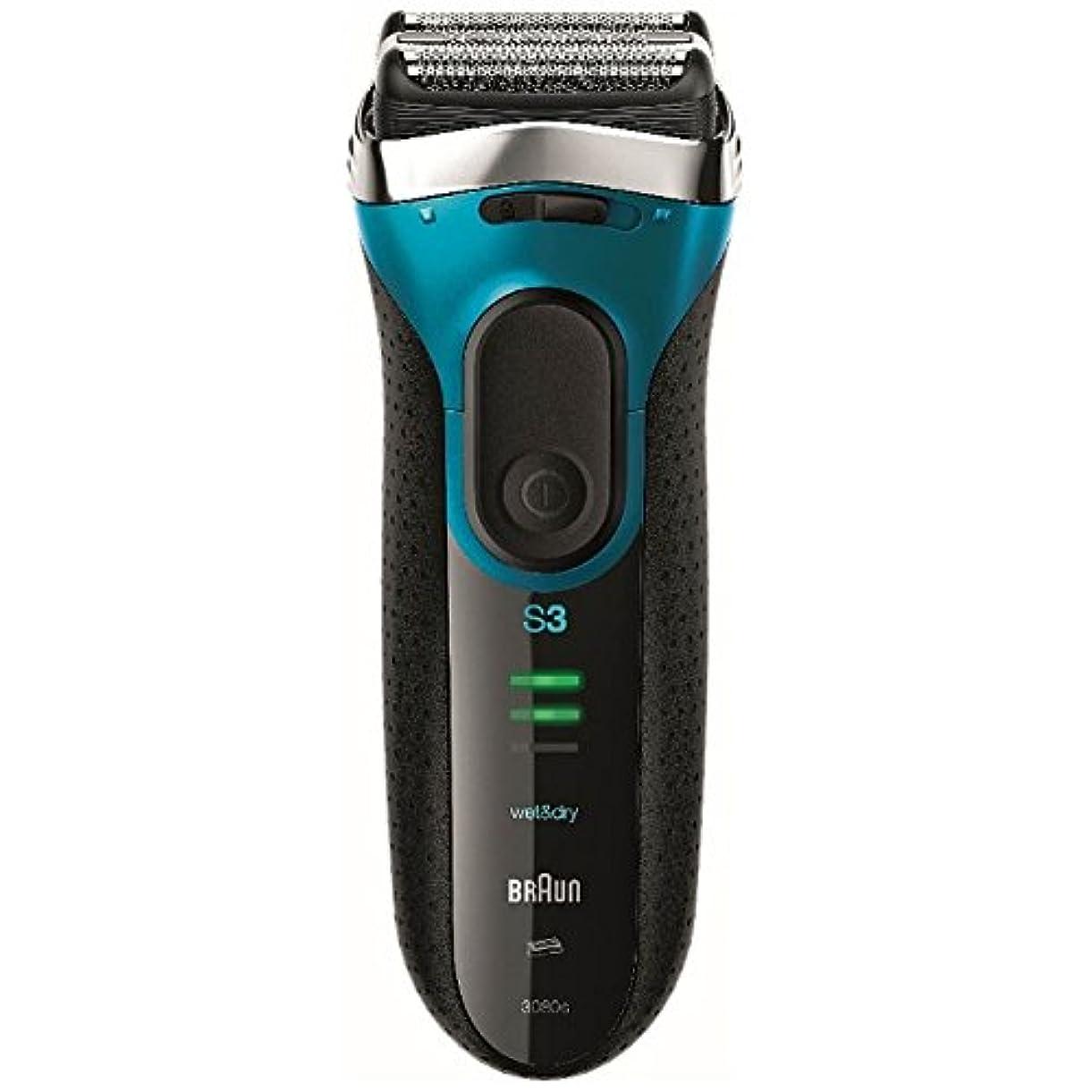 階層リーチ補うブラウン メンズシェーバー シリーズ3 3080s-B-P 3枚刃 お風呂剃り可 ブルー