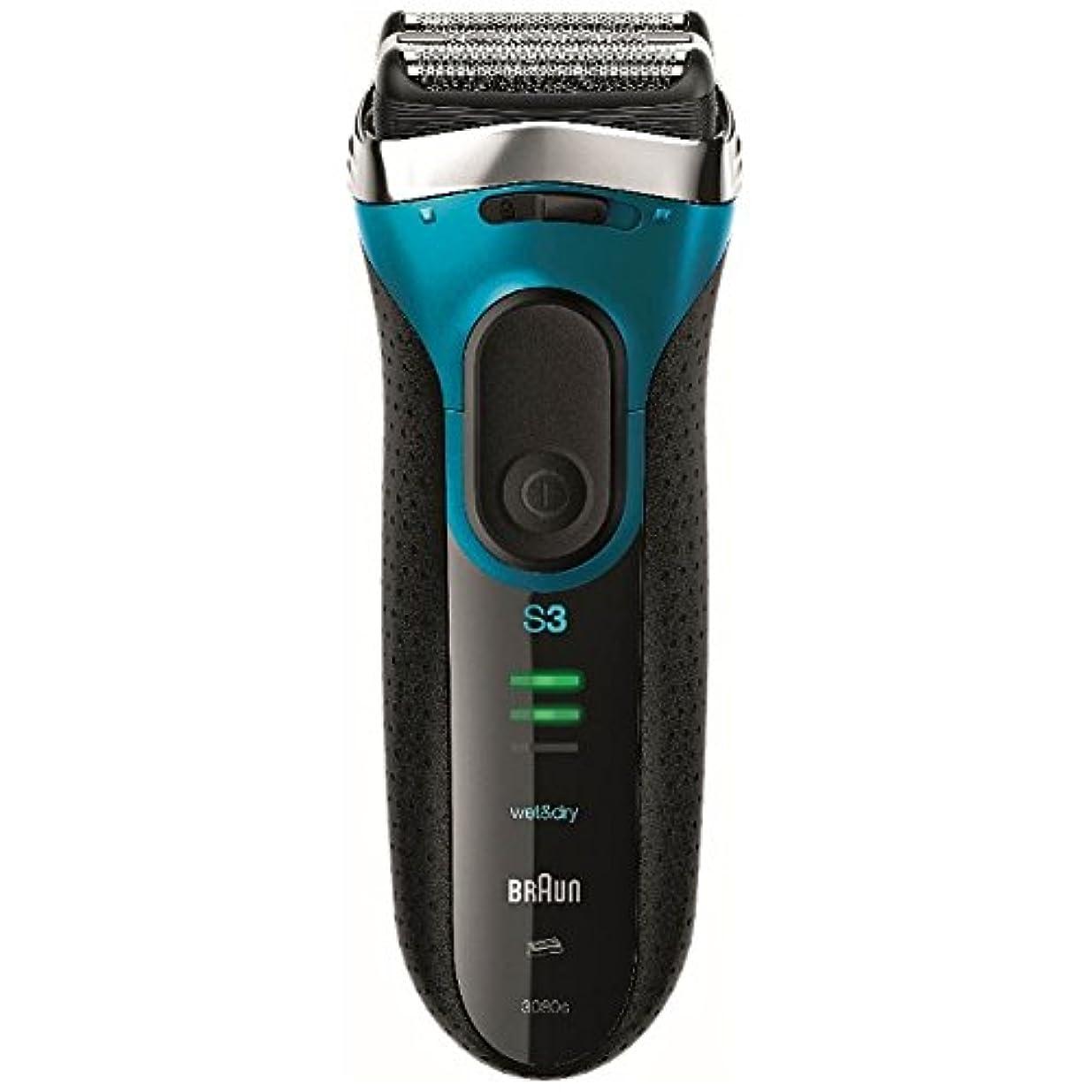 シェルター散髪同一性ブラウン メンズシェーバー シリーズ3 3080s-B-P 3枚刃 お風呂剃り可 ブルー