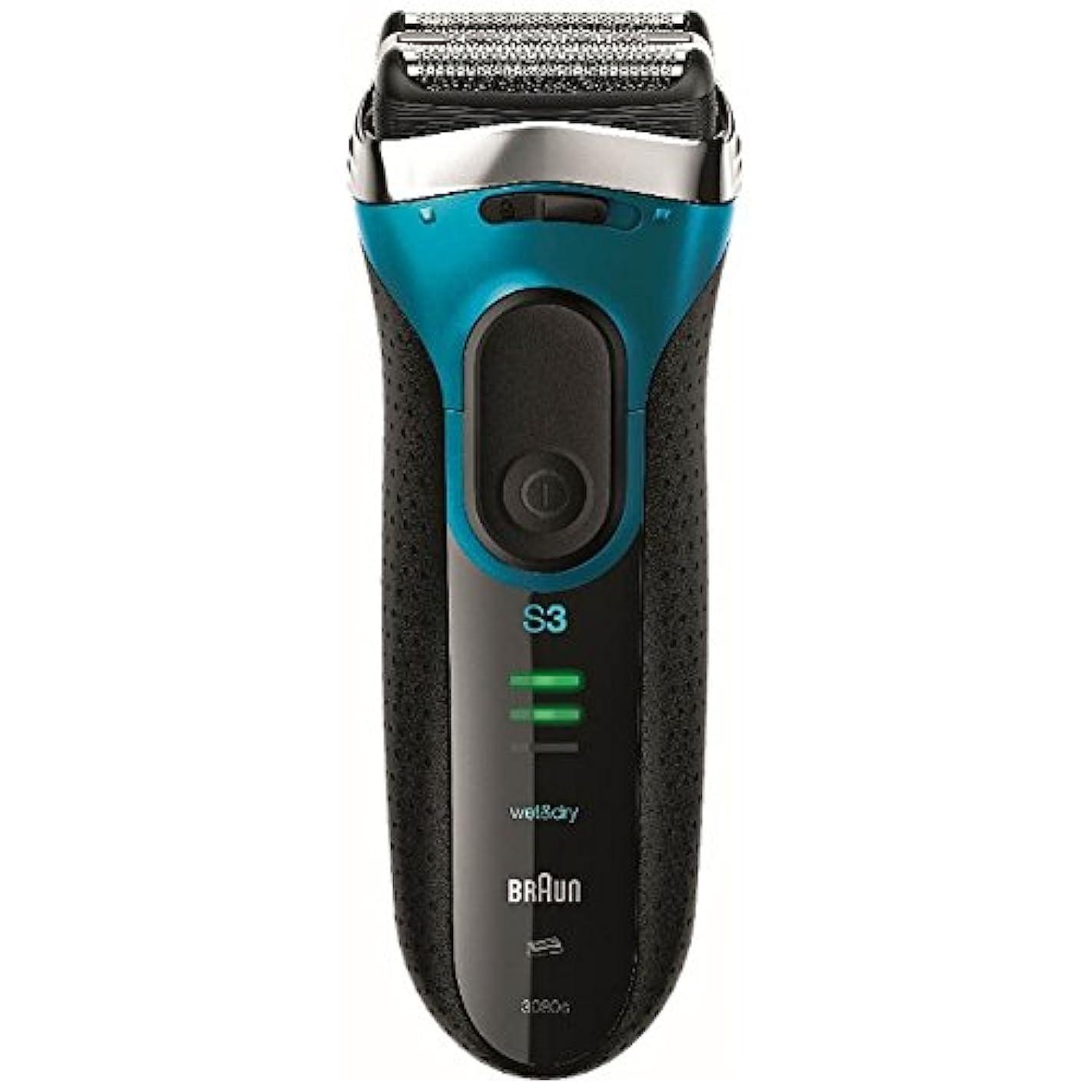 知事ポルトガル語勧告ブラウン メンズシェーバー シリーズ3 3080s-B-P 3枚刃 お風呂剃り可 ブルー