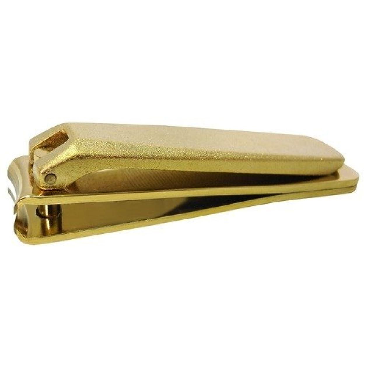 嫉妬補正習字KD-029 関の刃物 ゴールド爪切 大 カバー無