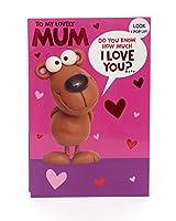 楽しいママの誕生日カード - ポップアップ I Love You This Much!