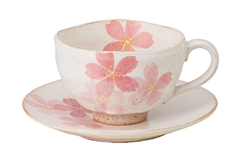 エールネット キッチン用品?食器/食器?グラス?カトラリー/マグカップ?ティーカップ/カップ_ソーサー ピンク 10cm 彩箱 コーヒー碗皿(桜咲)