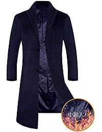 APTRO(アプトロ) メンズ コート チェスターコート ウール 中綿入り 暖かい ロング丈 通勤 紳士服 冬コート オシャレ ビジネスコート