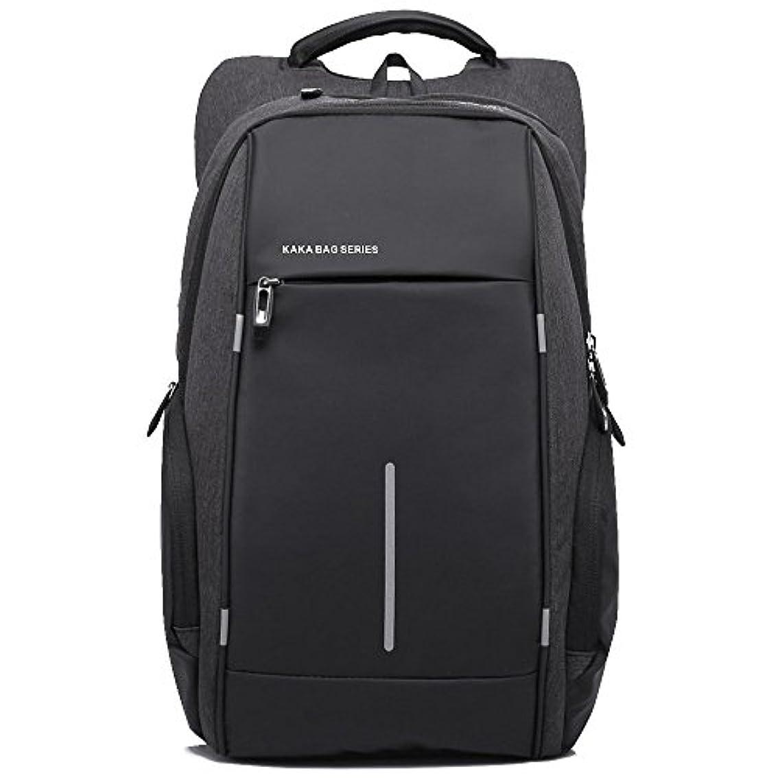 エステート石ペグKAKA リュックサック ビジネスバッグ バッグバッグ 超軽量 多機能 通勤 通学 アウトドアバッグ 2215 ブラック