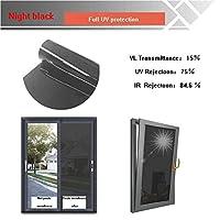 OUPAI 窓フィルム 窓用フィルム、遮光日焼け止めフィルム一方向ガラス色合い用ホームミラー反射効果昼間のプライバシー保護静電吸着3ピース150×100センチ ガラスフィルム (Color : D, Size : 60 × 100 cm)