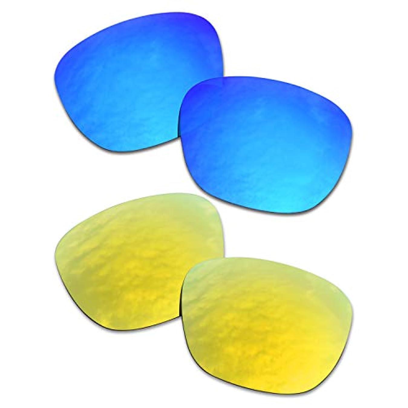 天窓見かけ上崇拝するSOODASE 為に Oakley Enduro サングラス ブルー/きんいろ 2 ペア 偏光交換使用するレンズ