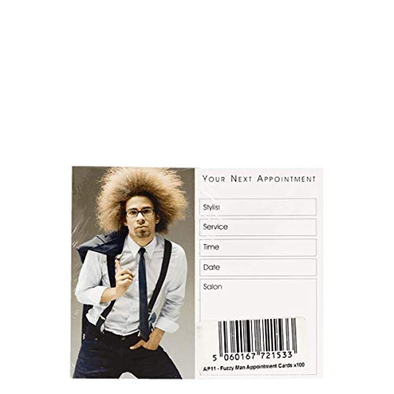 受信推定する補助アポイントメントカード Appointment Cards- AP11 FUZZY MAN CARDS x100[海外直送品] [並行輸入品]