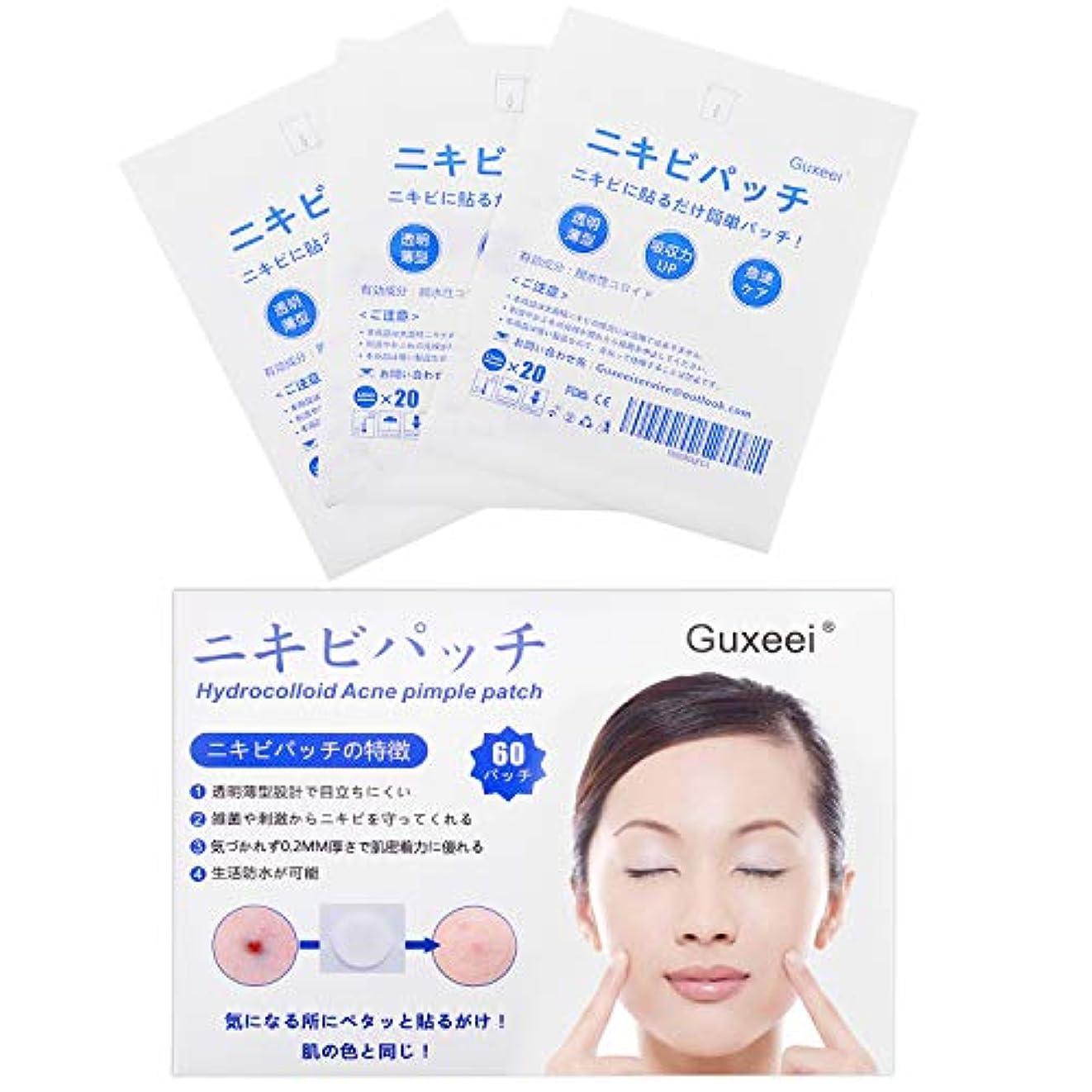 リベラル医療のハドルGuxeei スポット ニキビ コンシーラー Acne Pimple Patch 12mm(3枚 60パッチ入り )