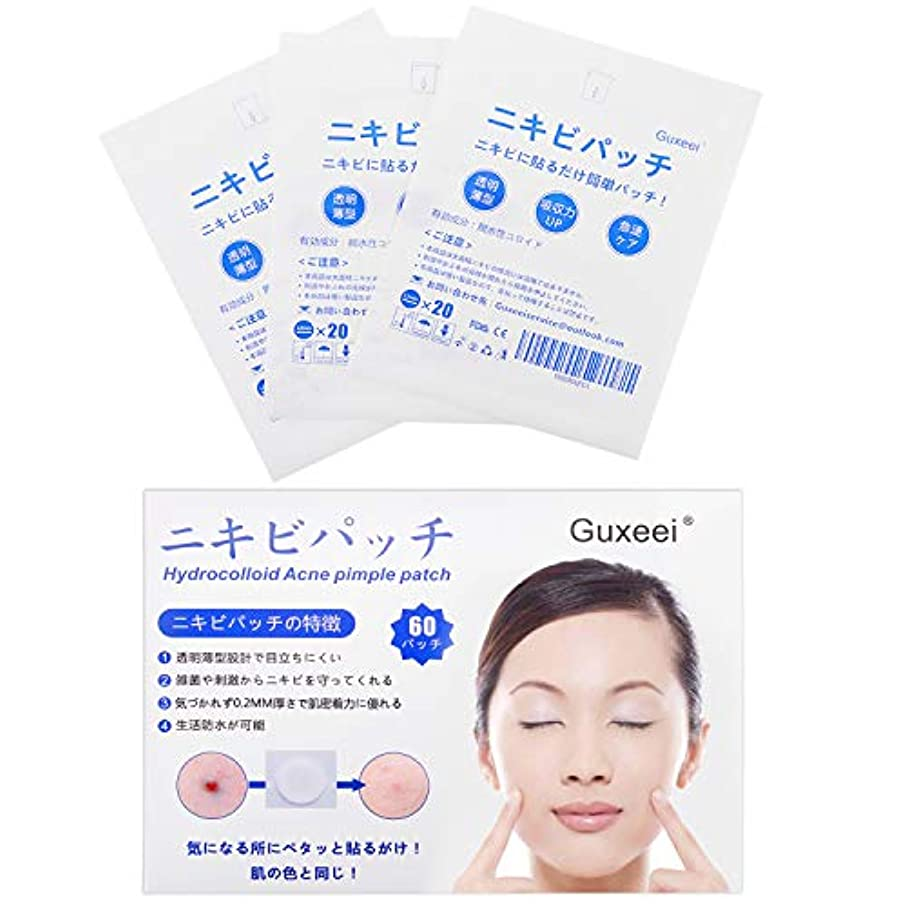 啓示冷凍庫教会Guxeei スポット ニキビ コンシーラー Acne Pimple Patch 12mm(3枚 60パッチ入り )