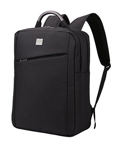 DTBG PCバッグ ビジネスバッグ 防水 耐摩耗 通勤 通学 出張 旅行に対応 人気のビジネス リュック バッグ 男女兼用 (ブラック)