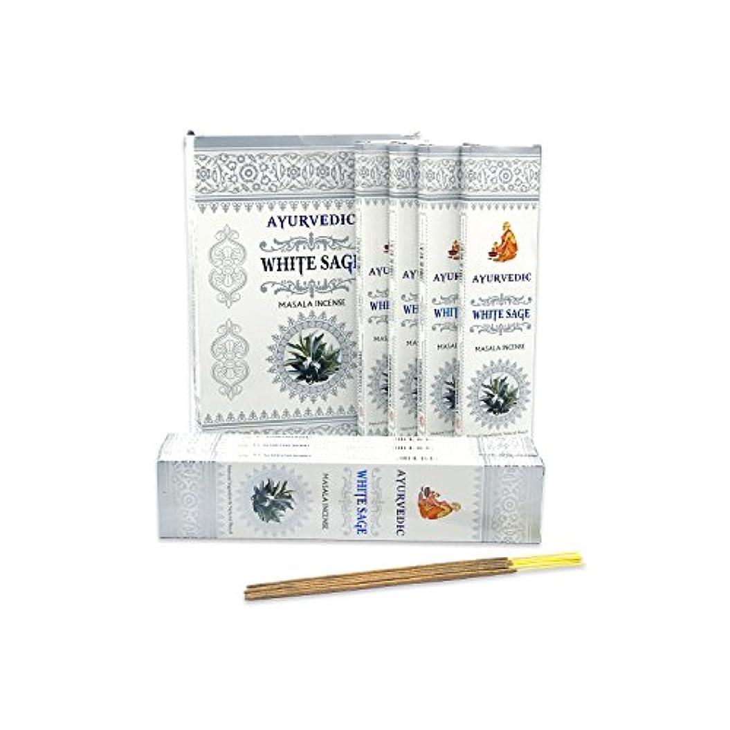 現代のニュージーランド黄ばむAyurvedicホワイトセージMasala Incense Sticks Agarbatti (12パックcontaining 15 sticks各)
