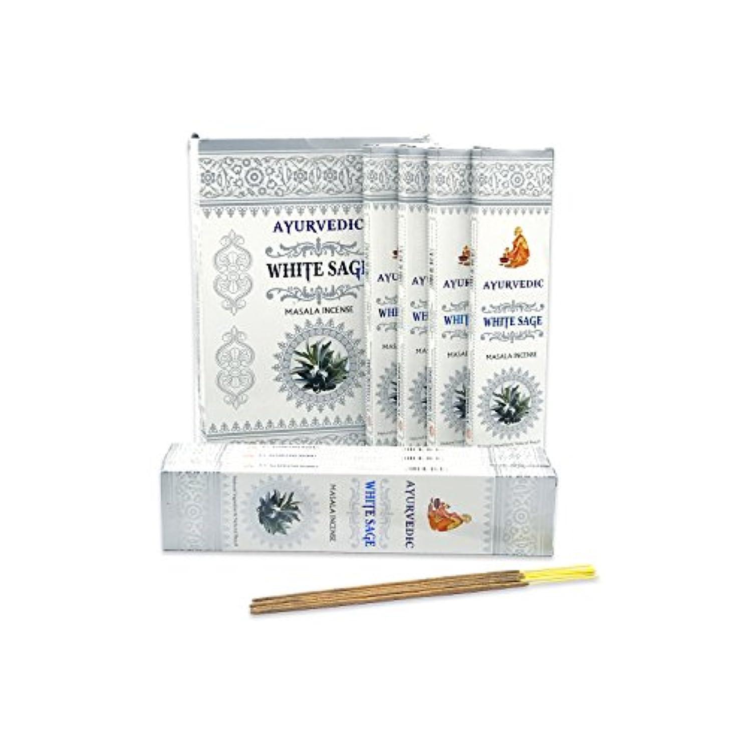 バウンス候補者ルーフAyurvedicホワイトセージMasala Incense Sticks Agarbatti (12パックcontaining 15 sticks各)