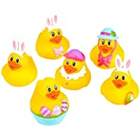Rhode Island Novelty 2 Easter Bunny Rubber Duckies (12 Piece) 【You&Me】 [並行輸入品]