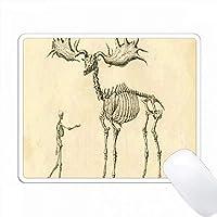 人間の化石のプリントVS Elk Science Sketch PC Mouse Pad パソコン マウスパッド