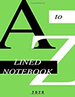 A to Z: Lined Notebook Journal (8.5 x 11 Large)