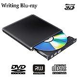 ブルーレイドライブ 外付け Blu-Ray ディスク書き込み・読み込みUSB 3.0 Blu Rayドライブ BD再生 低騒音 超高速伝送 Windows 7/8/XP/Vista 、Linux、Mac OS対応