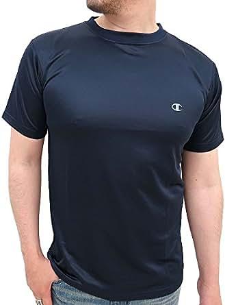 (チャンピオン) champion Tシャツ メンズ 半袖 無地 ロゴ ワンポイント プリント 3color LL ネイビー