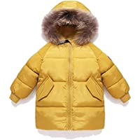 Surprise S Long Pattern Kids Clothing Winter Warm Down Cotton Jackets Children Collar Coats Girl Thickening Hooded