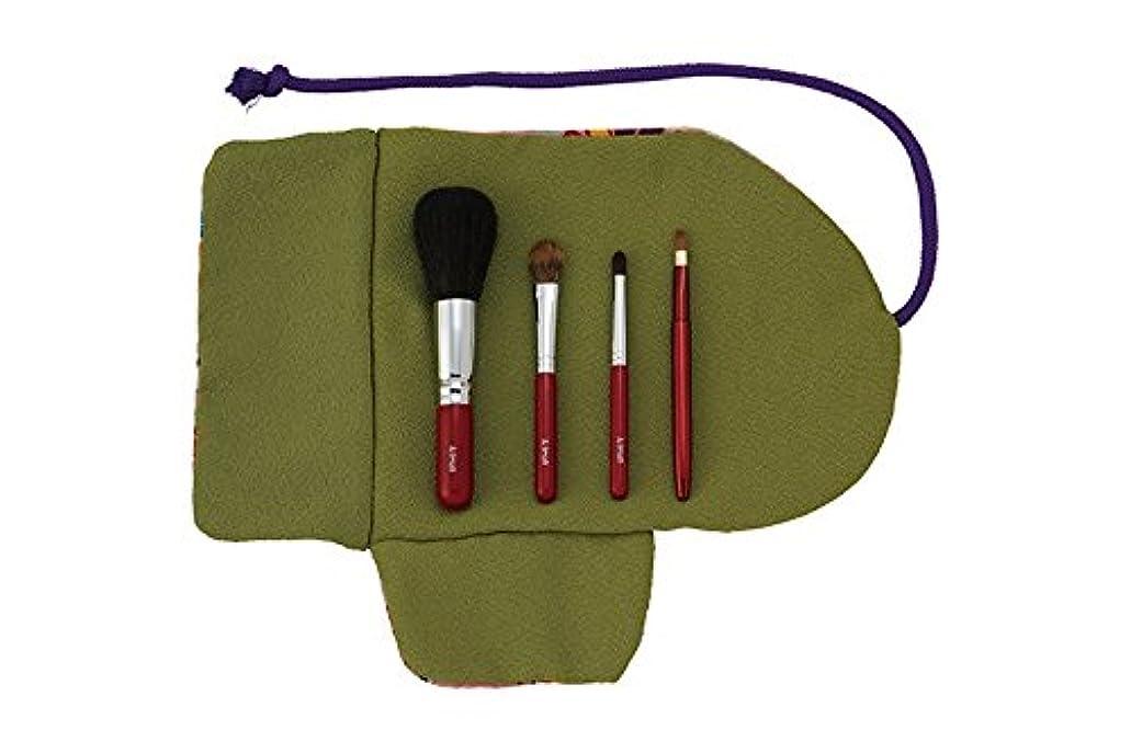 トン隣人グリーンバック熊野筆 Ai brush WA-4A/和風化粧筆セット