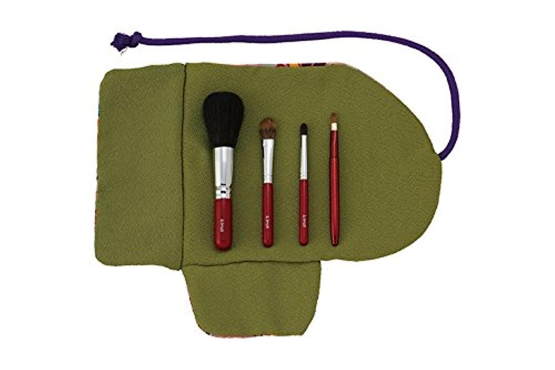 回復するダンプシンプトン熊野筆 Ai brush WA-4A/和風化粧筆セット