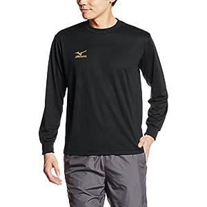 [ミズノ] トレーニングウェア 長袖Tシャツ ナビドライ 吸汗速乾 メンズ 32JA6130 90 ブラック×ゴールド L
