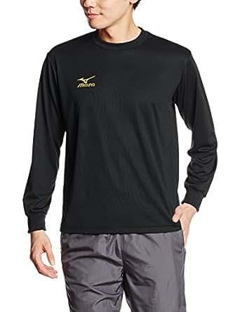 (ミズノ)MIZUNO(ミズノ) トレーニングウェア 長袖Tシャツ ナビドライ 32JA6130 90 ブラック×ゴールド 2XL