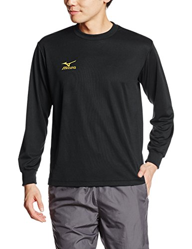 [ミズノ]トレーニングウェア 長袖Tシャツ ナビドライ ブラック×ゴールド 日本 L (日本サイズL相当)