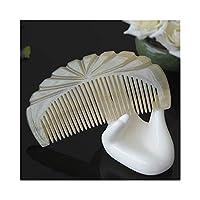 Mocici 良質の自然な木の櫛の毛 - もつれを解くことおよび乾燥の巻き毛のための自然な帯電防止木、厚い、波状、またはまっすぐな毛