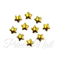 メタルスタッズ ぷっくり星の形 スター ゴールド 3mm 20個