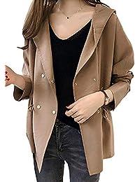 [エアバイ] 春 トレンチコート 風 薄手 ゆったり 長袖 ジャケット コート 羽織り レディース M~XXL