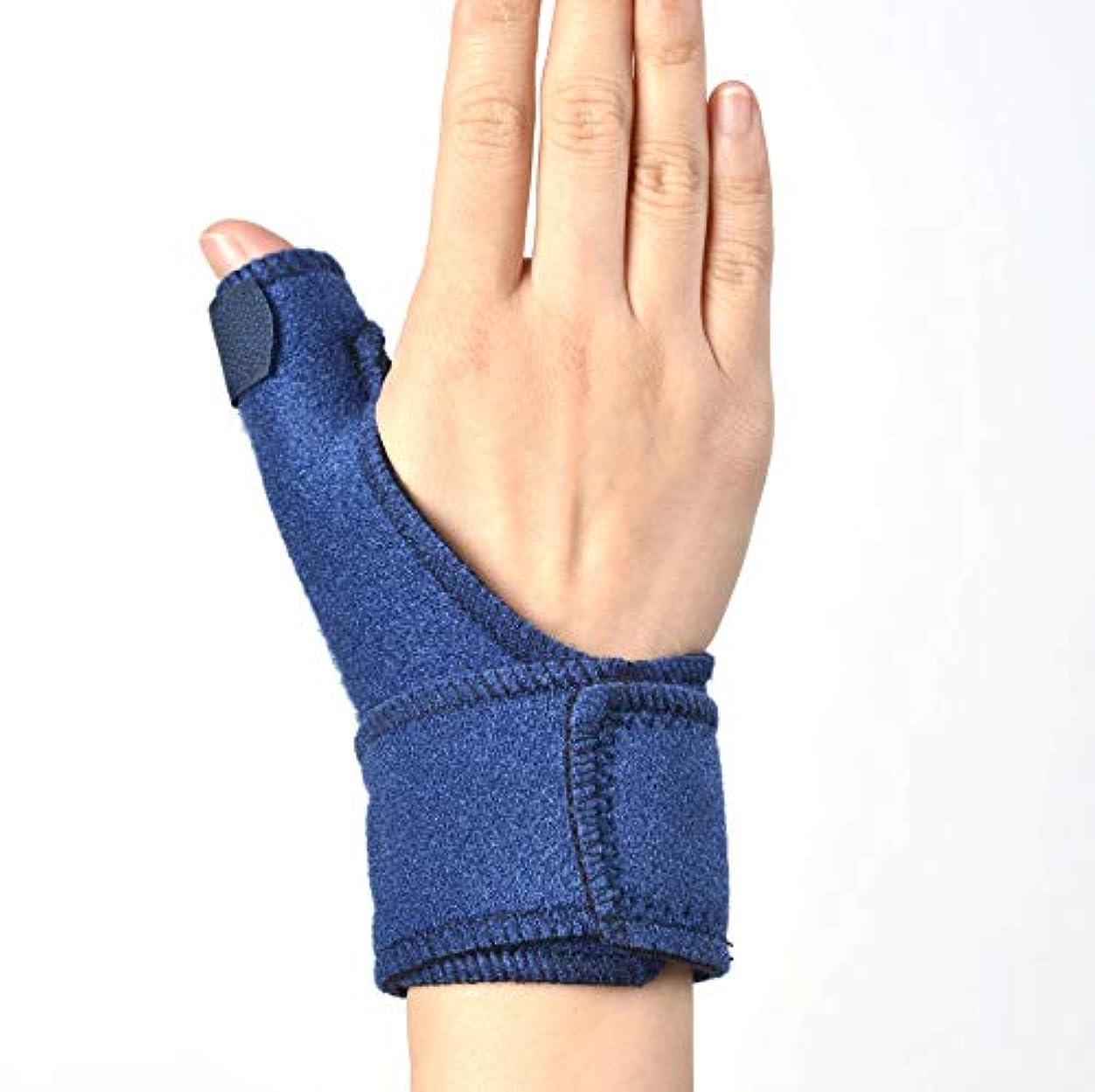 親指スプリント、マジックテープ調節可能な親指サポートブレースとガード腱炎 - 指スプリント親指固定具は左右の手にフィット