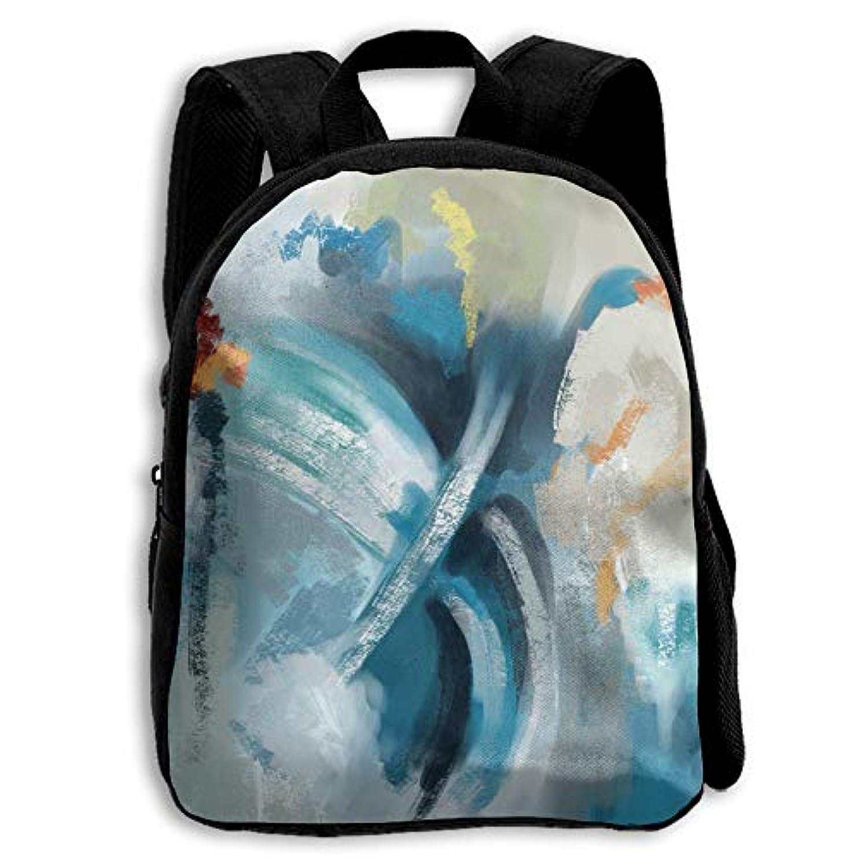 作家クック博覧会キッズ リュックサック バックパック キッズバッグ 子供用のバッグ キッズリュック 学生 抽象 絵画 アウトドア 通学 ハイキング 遠足
