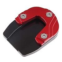 B Baosity サイドスタンド サイドスタンドパッド 足板キックスタンドパッド HONDA FORZA 125/300 2018適用 全4色 - 赤